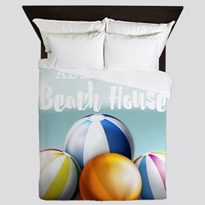 Beach House Perssonalized Queen Duvet