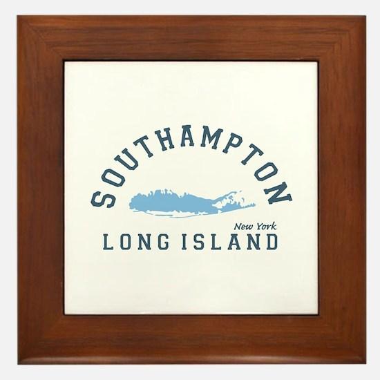 Southampton - Long Island. Framed Tile