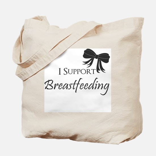 I support Breastfeeding Girls Onesie Tote Bag