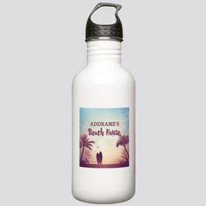 Personalized Tropical Stainless Water Bottle 1.0L
