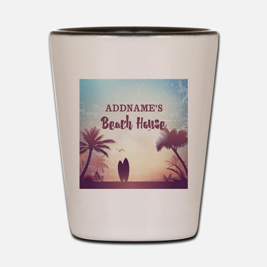Personalized Tropical Beach House Shot Glass