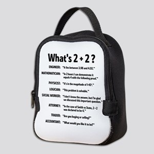2 plus 2 Neoprene Lunch Bag