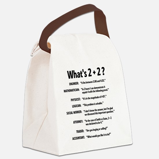 2 plus 2 Canvas Lunch Bag