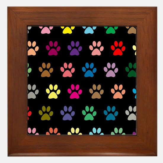 Cute Paws Framed Tile