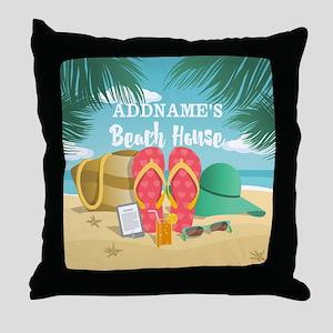 Tropical Paradise Beach House Persona Throw Pillow
