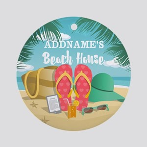 Tropical Paradise Beach House Per Ornament (Round)