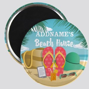 Tropical Paradise Beach House Personalized Magnet