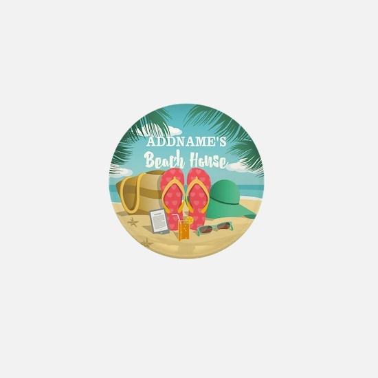 Tropical Paradise Beach House Personal Mini Button