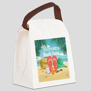 Tropical Paradise Beach House Per Canvas Lunch Bag