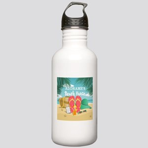 Tropical Paradise Beac Stainless Water Bottle 1.0L