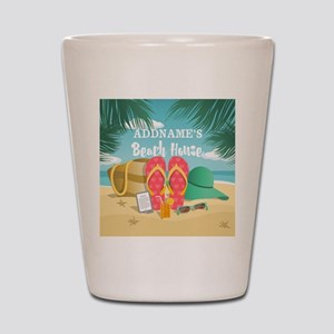 Tropical Paradise Beach House Personali Shot Glass