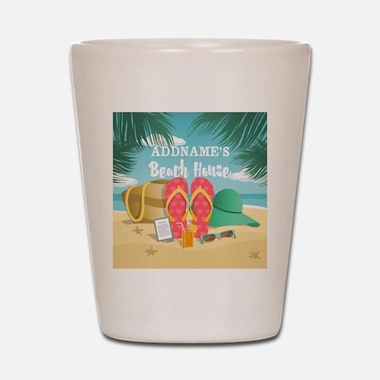 Tropical Paradise Beach House Personali Shot Glass