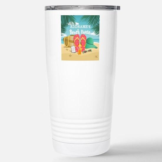 Tropical Paradise Beach Stainless Steel Travel Mug
