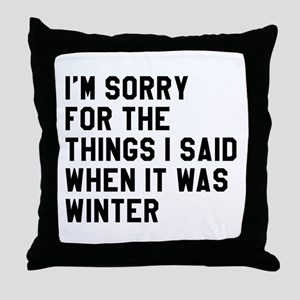 When It Was Winter Throw Pillow