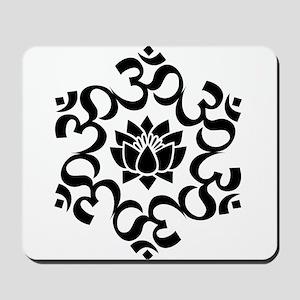 Buddhist Sacred Indian Lotus Flower Budd Mousepad