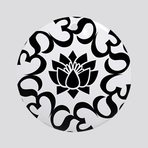 Buddhist Sacred Indian Lotus Flow Ornament (Round)