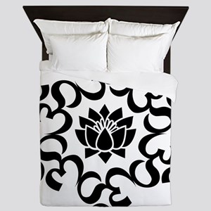 Buddhist Sacred Indian Lotus Flower Bu Queen Duvet