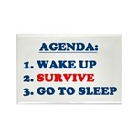 AGENDA TO SURVIVE Rectangle Magnet