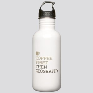 Coffee Then Geography Stainless Water Bottle 1.0L