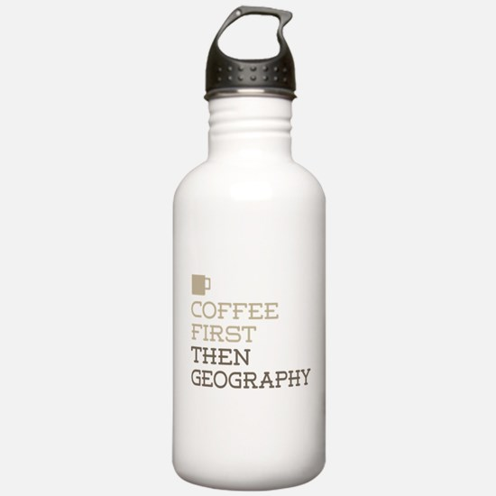 Coffee Then Geography Water Bottle