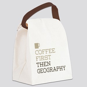 Coffee Then Geography Canvas Lunch Bag