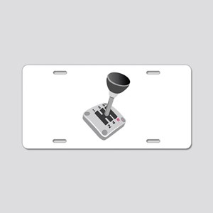 Gear Shift Aluminum License Plate