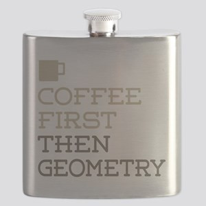 Coffee Then Geometry Flask