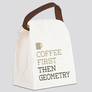 Coffee Then Geometry Canvas Lunch Bag