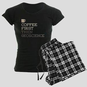 Coffee Then Geoscience Women's Dark Pajamas