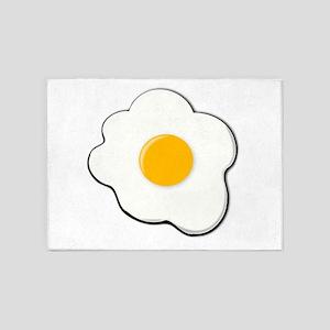 Sunny Side Up Egg 5'x7'Area Rug