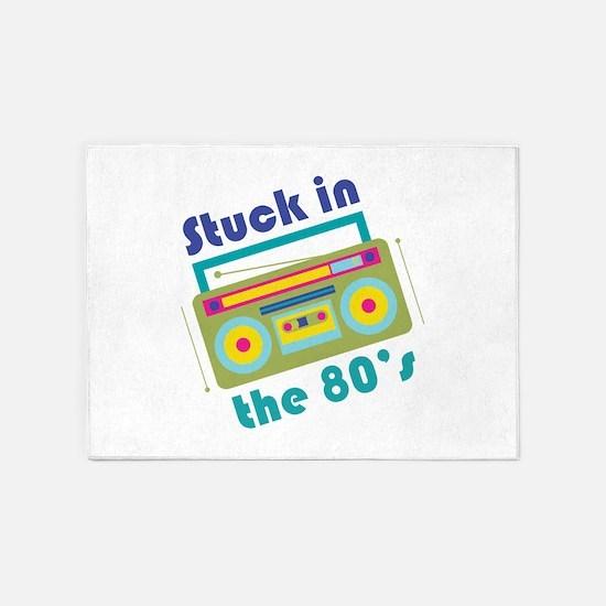 Stuck In 80s 5'x7'Area Rug