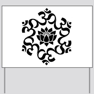 Buddhist Sacred Indian Lotus Flower Budd Yard Sign