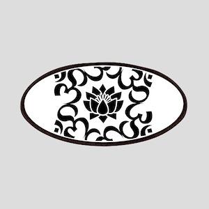 Buddhist Sacred Indian Lotus Flower Buddha O Patch