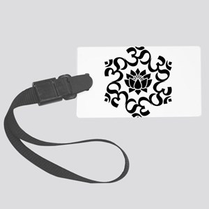 Buddhist Sacred Indian Lotus Flo Large Luggage Tag