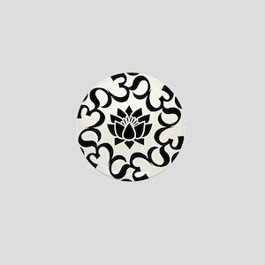 Buddhist Sacred Indian Lotus Flower Bu Mini Button