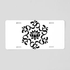 Buddhist Sacred Indian Lotu Aluminum License Plate