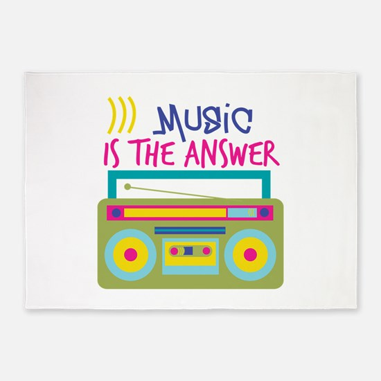 Music Is Answer 5'x7'Area Rug