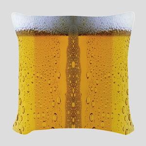 Oktoberfest Foaming Beer Woven Throw Pillow