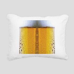 Oktoberfest Foaming Beer Rectangular Canvas Pillow