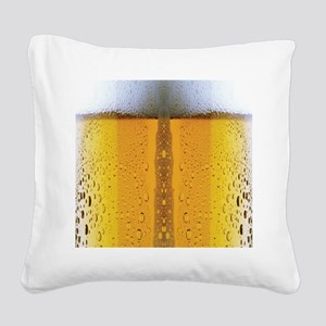 Oktoberfest Foaming Beer Square Canvas Pillow