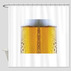 Oktoberfest Foaming Beer Shower Curtain