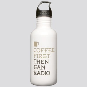 Coffee Then Ham Radio Stainless Water Bottle 1.0L