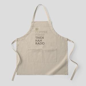 Coffee Then Ham Radio Apron