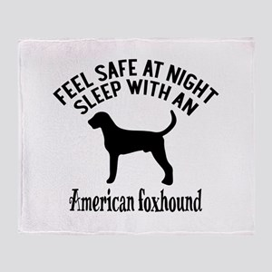 Sleep With American Foxhound Dog Des Throw Blanket