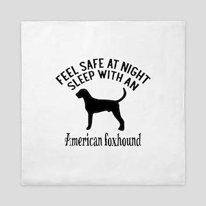 Sleep With American Foxhound Dog Desig Queen Duvet