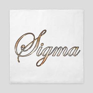 Gold Sigma Queen Duvet