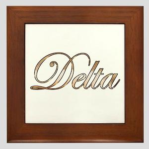 Gold Delta Framed Tile