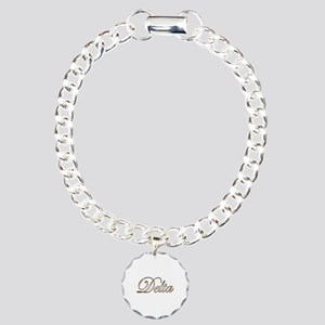 Gold Delta Charm Bracelet, One Charm