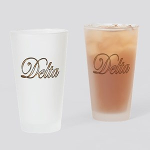 Gold Delta Drinking Glass