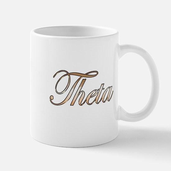 Gold Theta Mug
